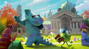 Monsters University Campus Mike Sulley