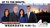 WNBC-TV's News 4 Today In New York's Up To The Minute, The Minute You're Up Promo November 2011