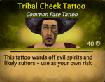Tribal Cheek Tattoo clearer