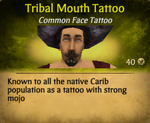 Tribal Mouth Tattoo clearer