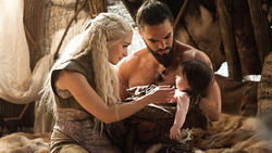 Dany Drogo with Rhaego Valar