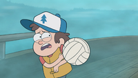 S1e2 dipper hit by volleyball