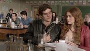 Lydia sitting next to Isaac
