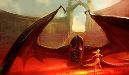 Drogon en la Fosa de Daznak by Marc Simonetti
