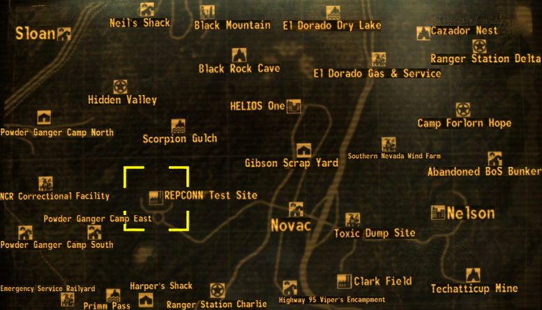 Repconn Test Site loc