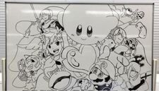 Super Smash Bros Wii U 3DS staff drawing