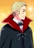 Germany in his Halloween costume in the anime