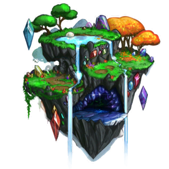 Gemstone Island Concept Artwork