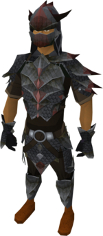Black dragonhide armour equipped