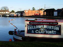 Fellows Morton and Clayton Motorboat No.1308 Lily at Gayton Junction