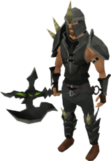 Dharok&#39;s armour set equipped