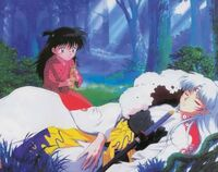 Rin Helping Sesshomaru