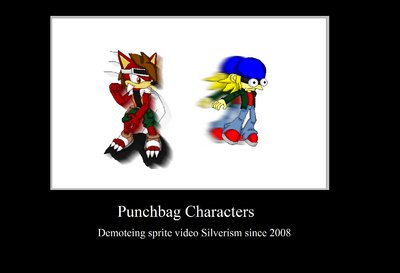 Punchbag characters motivational
