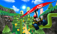 Mario and Peach Gliding - Rock Rock Mountain - Mario Kart 7