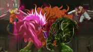 Toriko and Zebra charging at Salamander Sphinx anime