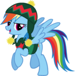 Rainbow Dash Hearth's Warming Eve Card Creator