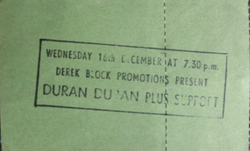 Hammersmith Odeon, London (UK) - 16 December 1981 wikipedia duran duran ticket stub