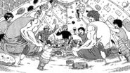 Toriko celebrating his new house