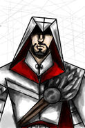 Cartoonish Ezio in Photoshop