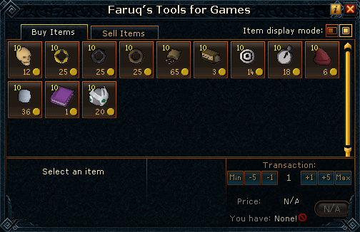 Faruq's Tools for Games stock