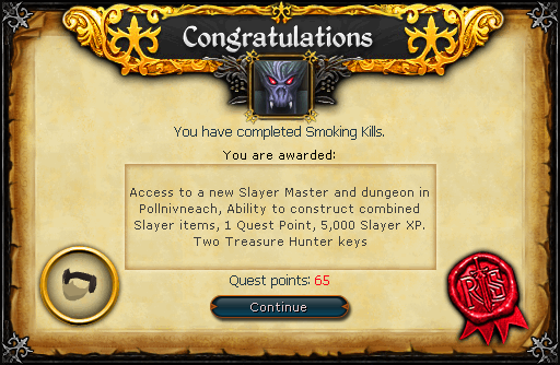 Smoking Kills reward