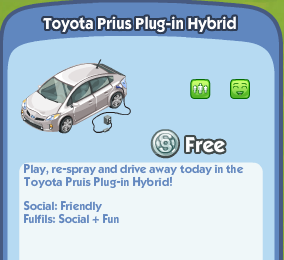 toyota prius plug in hybrid   the sims social wiki