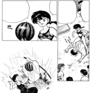 Ranma kicks Kuno - Horror of Party Beach