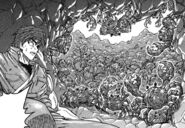 Toriko encountering Ruby Crabs