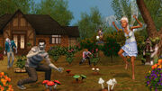 Ts3 supernatural fairzombie garden