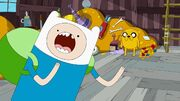 Girlish screaming Finn