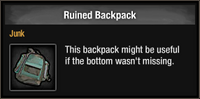 Ruined Backpack