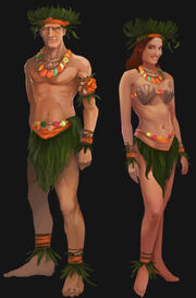 Tropical Islander outfit artwork
