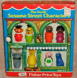 Fisher-price play family little people set sesame street characters 1