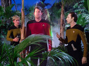 Riker in stasis field