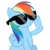 71458 - rainbow dash sunglasses