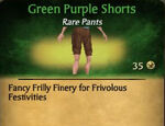 Green Purple Shorts