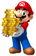 MarioHoldingCoins