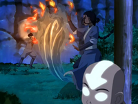 Katara and Zuko fight