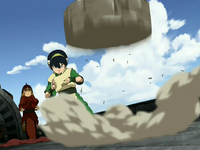 Toph protects the ship