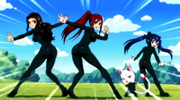 Erza&#39;s Group Wearing Leotard