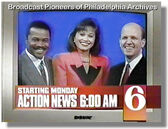 WPVI-TV's Channel 6 Action News Mornings' Monica Malpass, Rick Williams And Dave Frankel Video Promo For Monday Morning, March 30, 1992