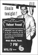 WFIL-TV's Talent Trend With Dick Clark Promo For Saturday Evening, December 21, 1957