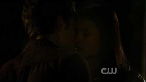 Stefan and Elena First Kiss The Night of the Comet Clip 4
