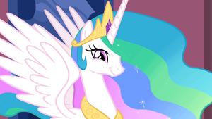 Princess Celestia smiling S2E02