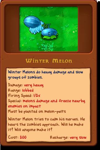 New winter melon almanac