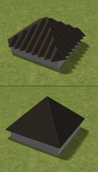Diagonal roof comparison