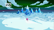 S4 E19 Princess Bubblegum in Ice Kingdom on a hill