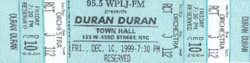 WPLJ Concert, Town Hall, New York wikipedia duran duran