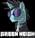 Green Neigh shirt design by PluckyNinja