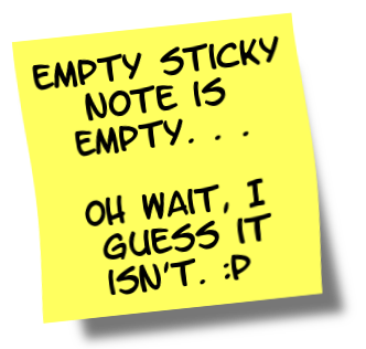 Sticky note - empty